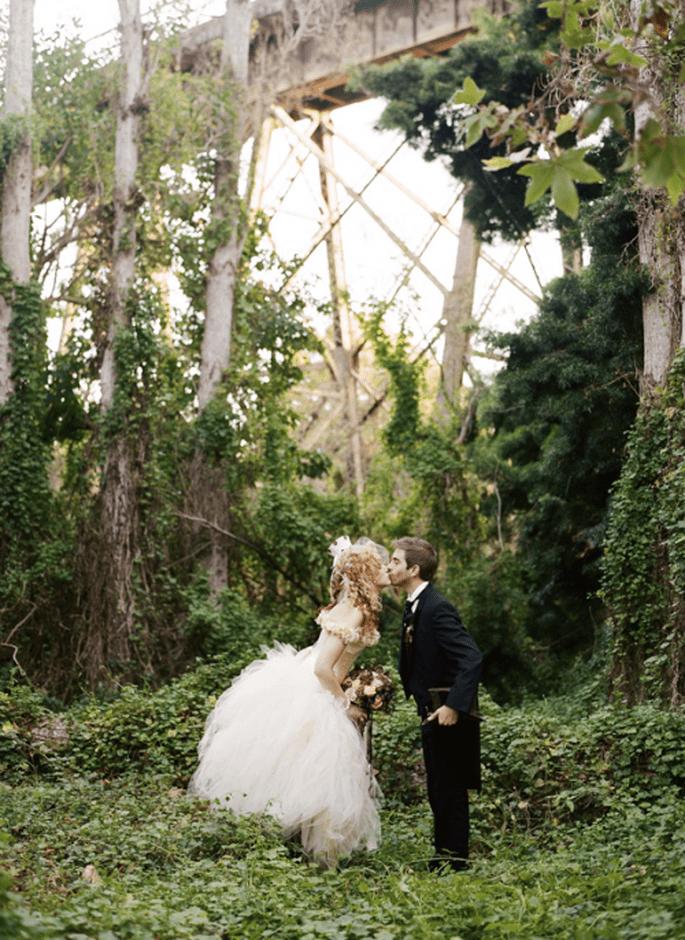 Tendencia de boda steampunk. Fotografía  Braedon Photography para Ruffled