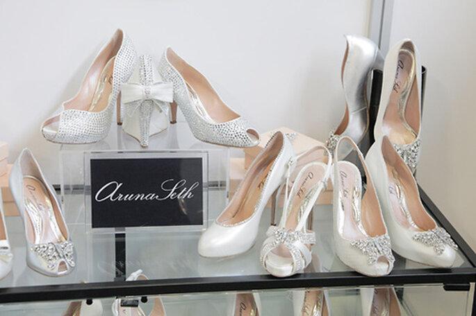 Display de zapatos de Aruna Seth en la White Gallery London. Foto: White Gallery