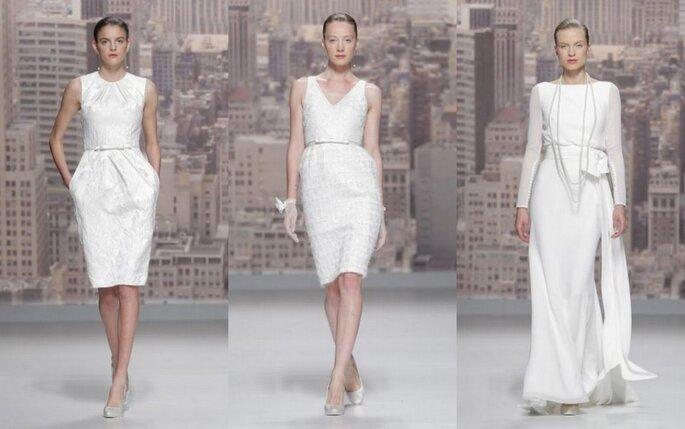 Vestidos de novia cortos y glamosos para novias urbanas de Rosa Clará - Colección 2015. Foto: Rosa Clará