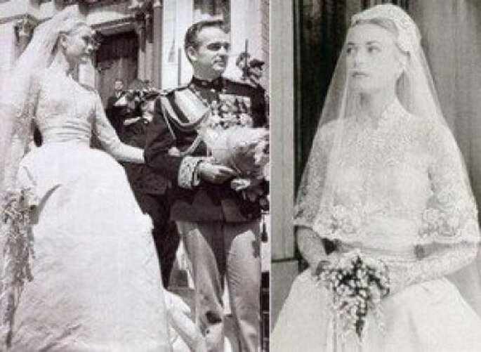 Boda de Grace Kelly y el príncipe Rainiero, 1956.