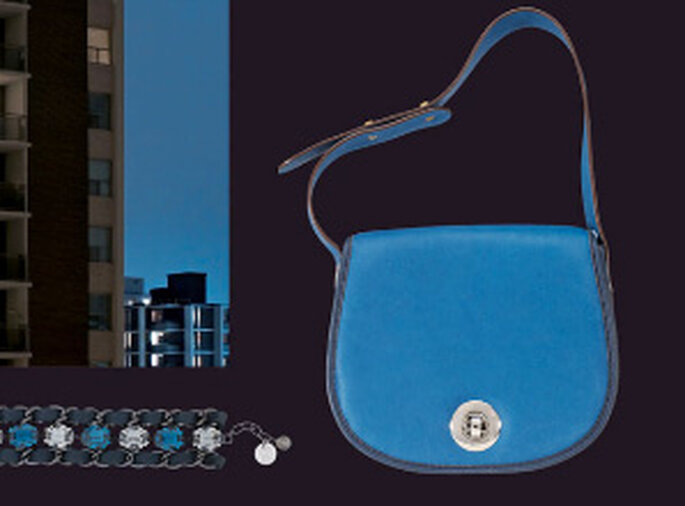 Bolso pequeño rígido azul