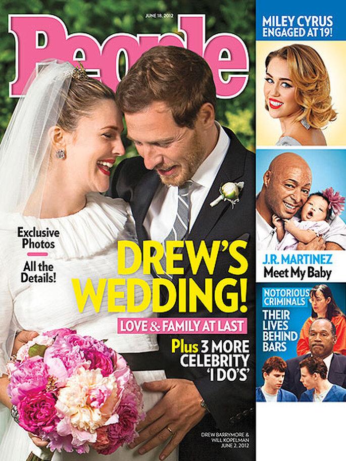Drew Barrymore y Will Kopelman recien casados y esperando su primer hijo - Foto People Magazine