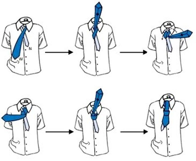 Uno de los nudos para la corbata...