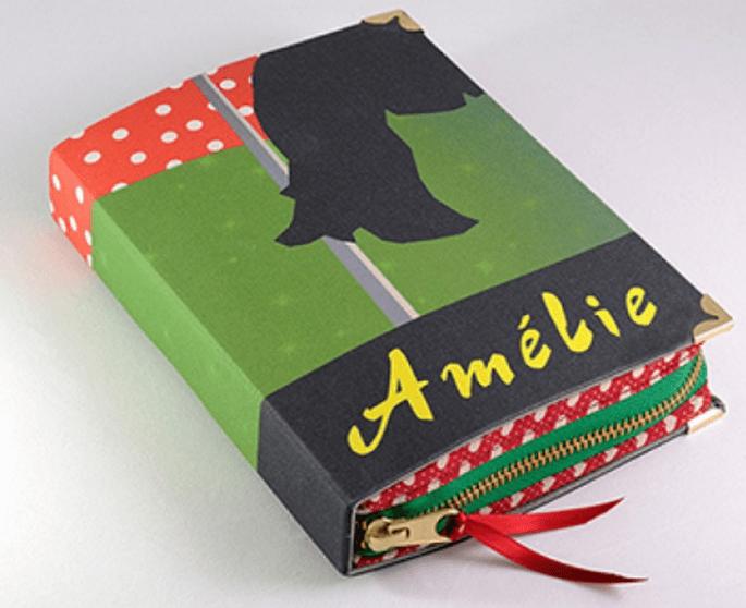 """Bolso de fiesta con forma del libro """"Amelie"""" - Foto PS Besitos"""
