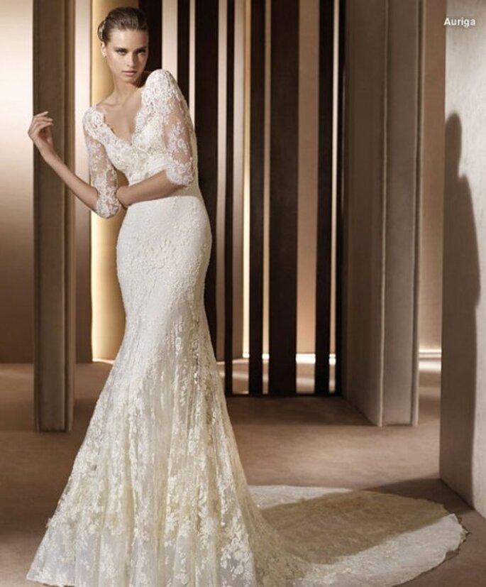 Consejos para elegir el mejor vestido de novia para invierno - Pronovias