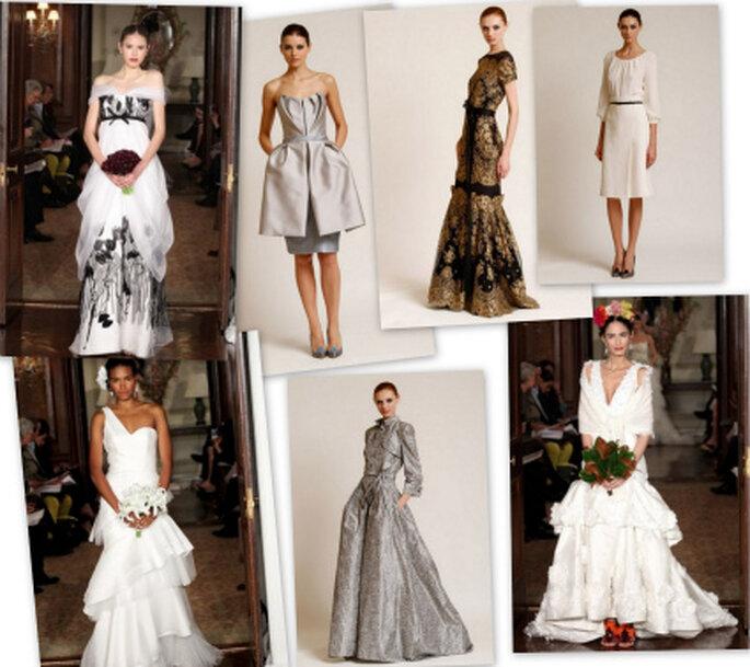 Los vestidos de novia de Carolina Herrera 2012 deslumbrantes