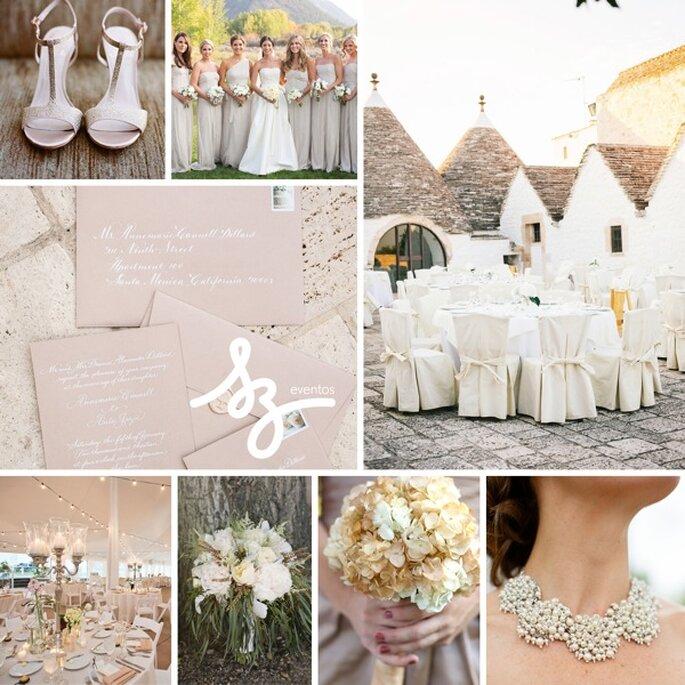 Inspiración para decorar tu boda con colores neutros - Jinda Photography, Kate Spade, Ira Lippke Studios, Nicole Dixon Photographic, Karlisch Photography