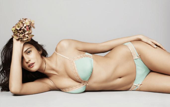 Conjunto de lencería en color menta - Foto Victoria's Secret