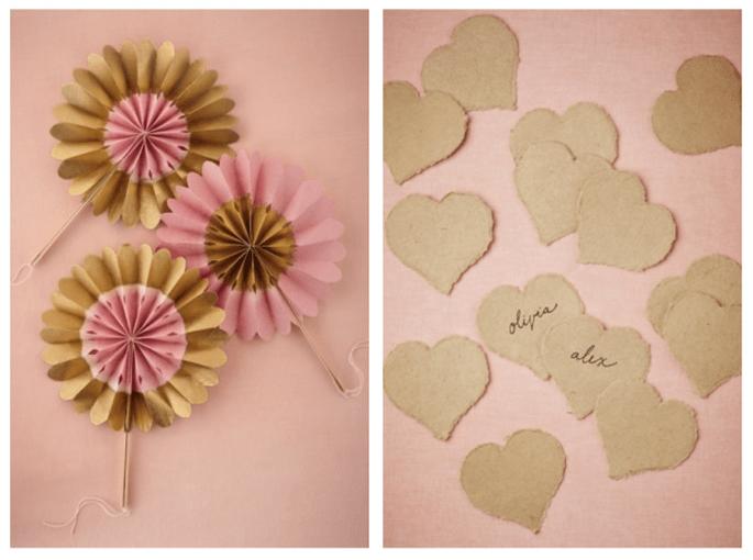 Decoraciones de papel para tu boda - Foto BHLDN