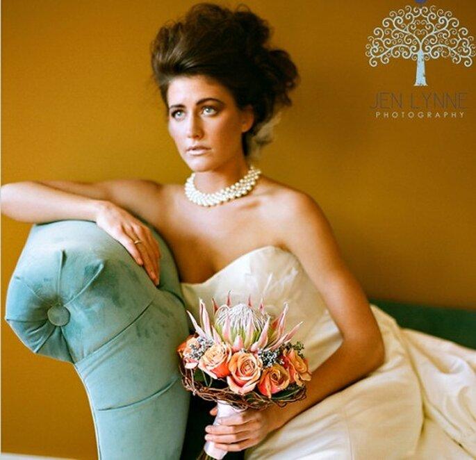 Tendencia en ramos de novia desprolijos. Fotografía Jeny Lynne