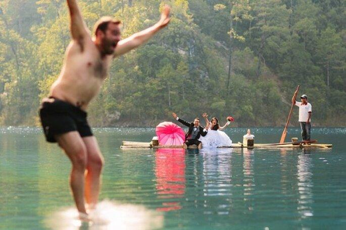 Sesión Trash the Dress en Lago Montebello, Chiapas - Foto Abimelec Olan
