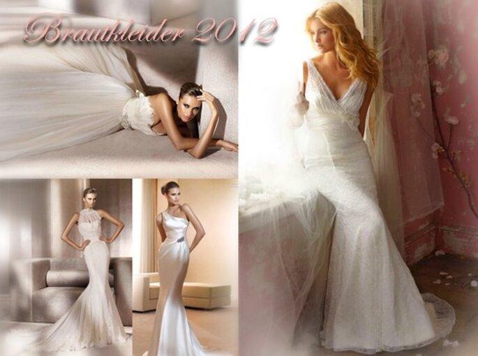 Das Neuste in Sachen Brautmode: Kleider 2012 (links Pronovias, rechts Alvina Valenta)