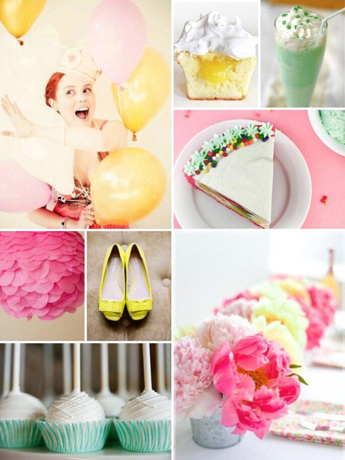pastelowe dekoracje ślubne kolor przewodni