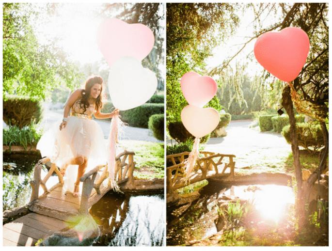 Decoración de boda al aire libre con globos , Foto Jacob Mariano