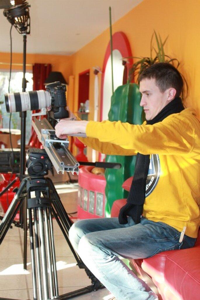 Save the Date et faire-part video : en piste pour le tournage ! Photo : Label' Emotion