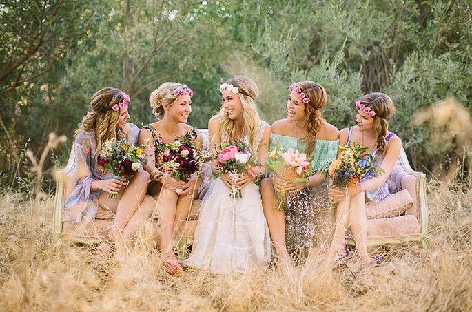 Vestidos de novia para bodas campestres: el triunfo de lo natural. Foto: Danielle Capito