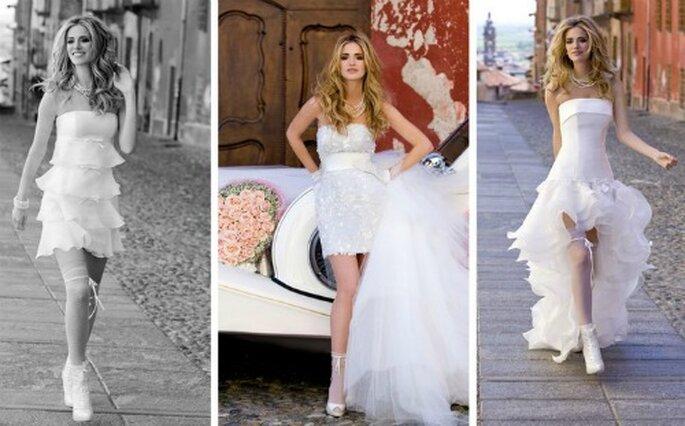 3 modelli in corto della Collezione 2012 di Nicole Spose