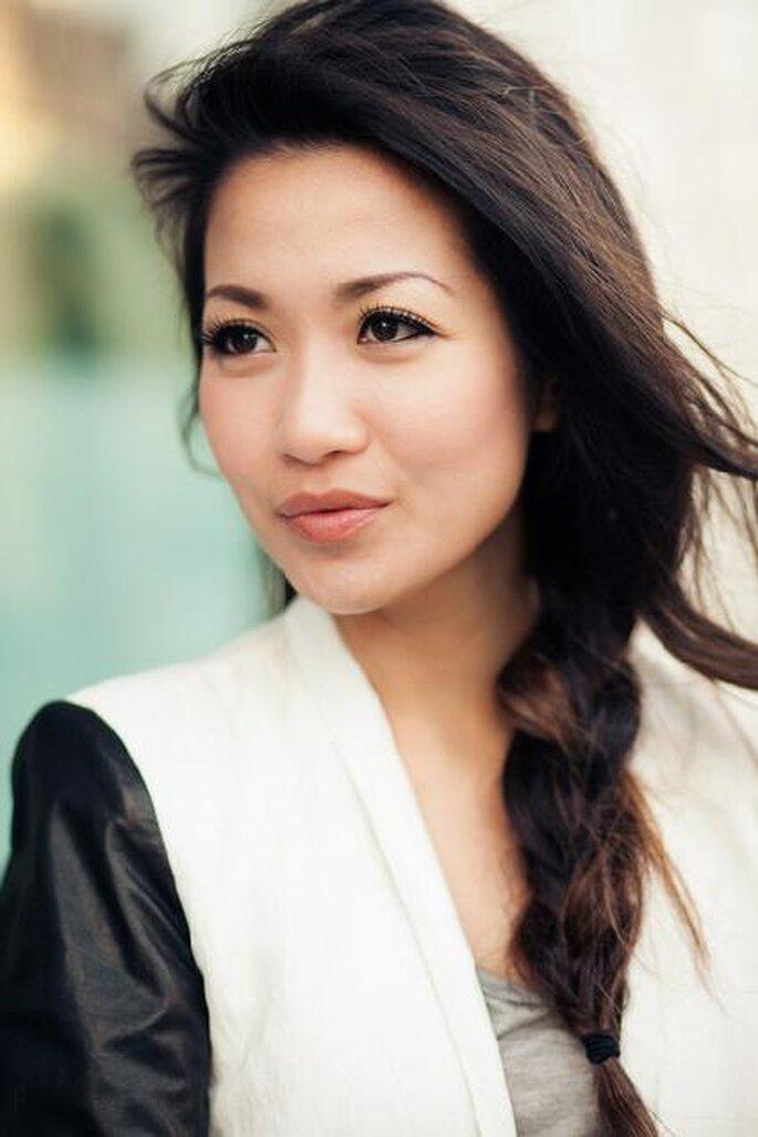 Ravissante coiffure pour l'actrice et blogueuse mode Wendy Nguyen de Wendy's Lookbook