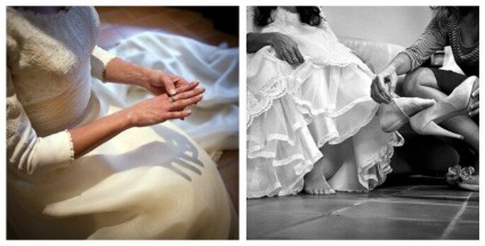 Emi, horas antes de la boda - Fotografía: Jesús Ortiz