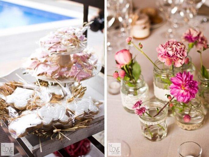 Decoración para boda DIY.Foto de The Love Studio.