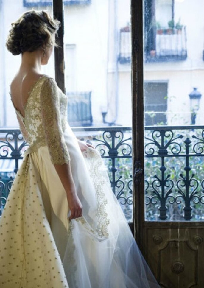 Espalda de vestido de novia realizado por Teresa Palazuelo- Foto: Teresa Palazuelo