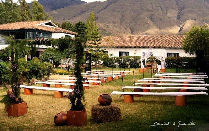 Lugar la ceremonia al aire libre. Foto: Andrés Navas