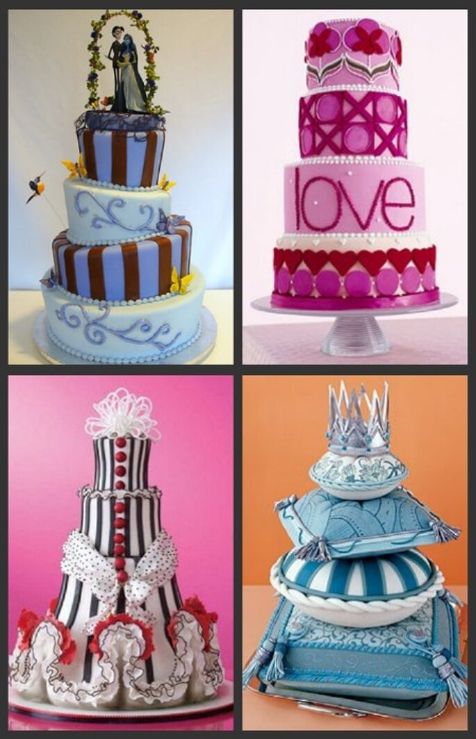 Tortas de bodas originales y divertidas