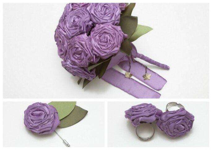 Accessori dalla medesima tonalità per le vostre nozze. Foto: B de Blanca
