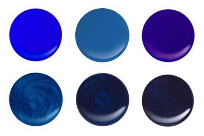 Alcune delle varianti di blu proposte da Kiko Nail Lacquer. Foto: www.kikocosmetics.com