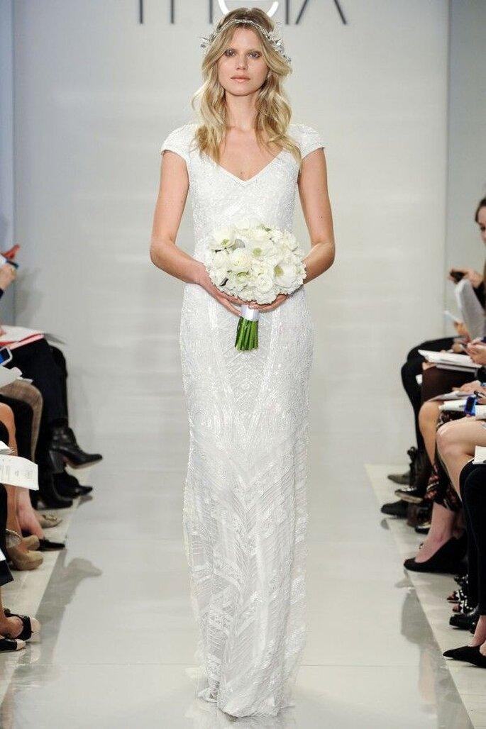 Robes de mariée 2015 aux manches courtes - Theia