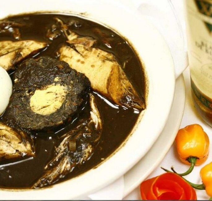Relleno negro, un deleite al paladar de la comida yucateca tradicional - Foto Restaurante Los Almendros (Mérida, Yucatán)