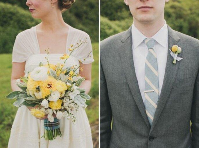 Farbliche Akzente werden ebenfalls mit zarten Farben gesetzt – Foto: shumate wedding