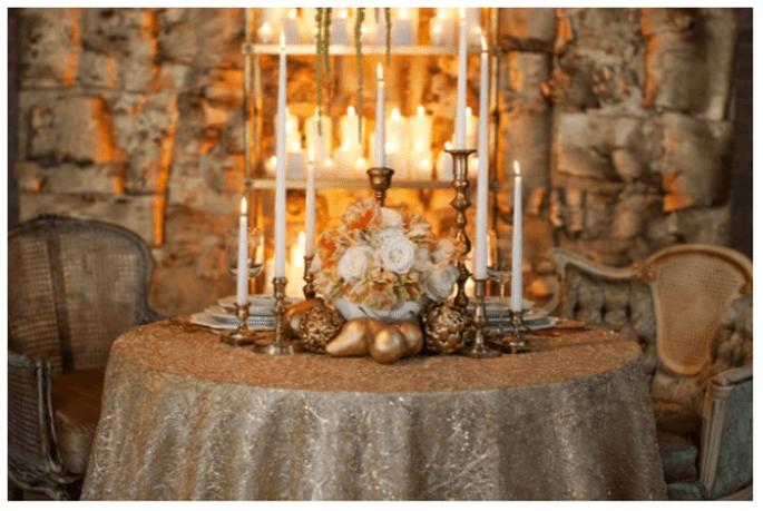 Decoración de mesas de boda inspirada en la Navidad - Foto Bellissima Photography