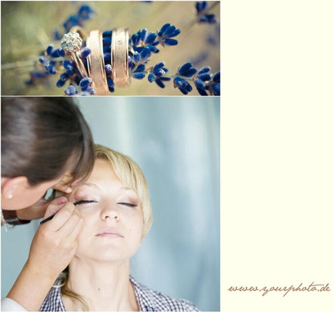 Für die Braut beginnt der Hochzeitstag mit einem guten Make-Up.