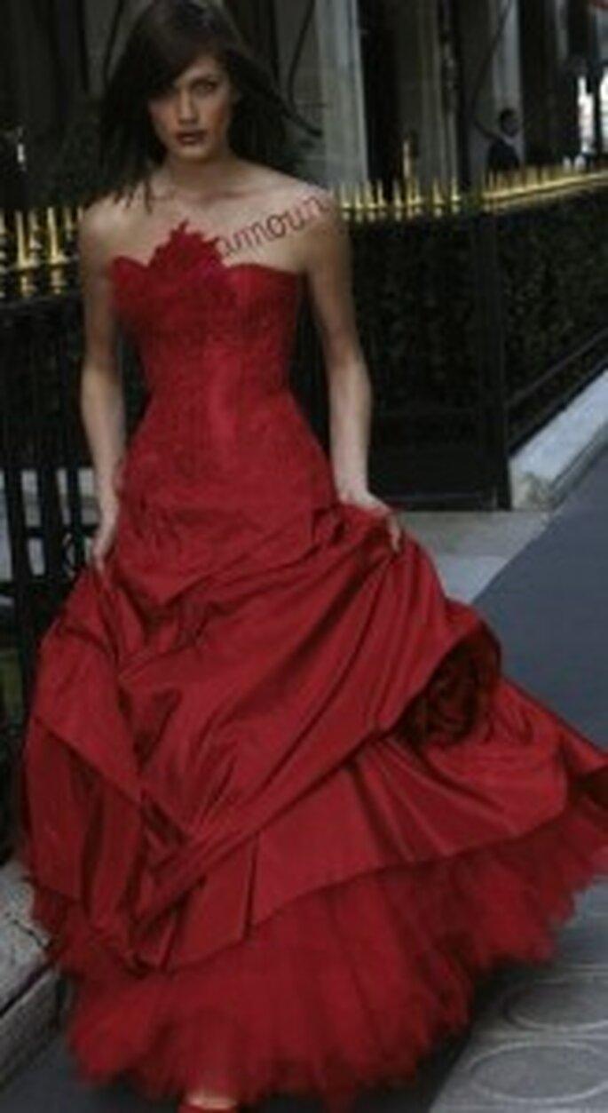 Vestido de novia rojo de Cymbeline