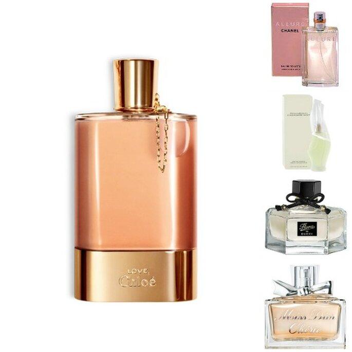 El perfume de la novia te recordará toda la vida tu gran día. Foto: Chloé, Dior, Gucci y Chanel