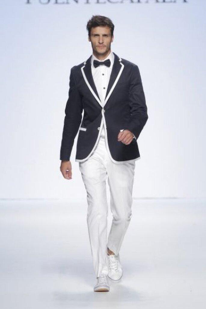 Vestido de novio con estilo marinero de Fuentecapala 2015