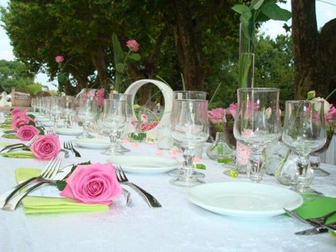 A un mariage, les centres de table sont la touche déco - Photo : One Day Event