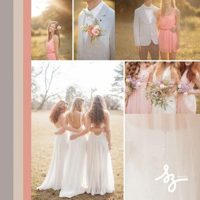Inspiración para una boda con textiles delicados y colores cálidos - Fotos peterandveronika.com - Diseño de Raisa Torres para SZ Eventos