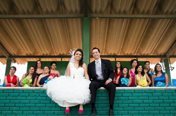 Damas de boda con vestidos de colores. Armando Aragon de Atlanta Studio
