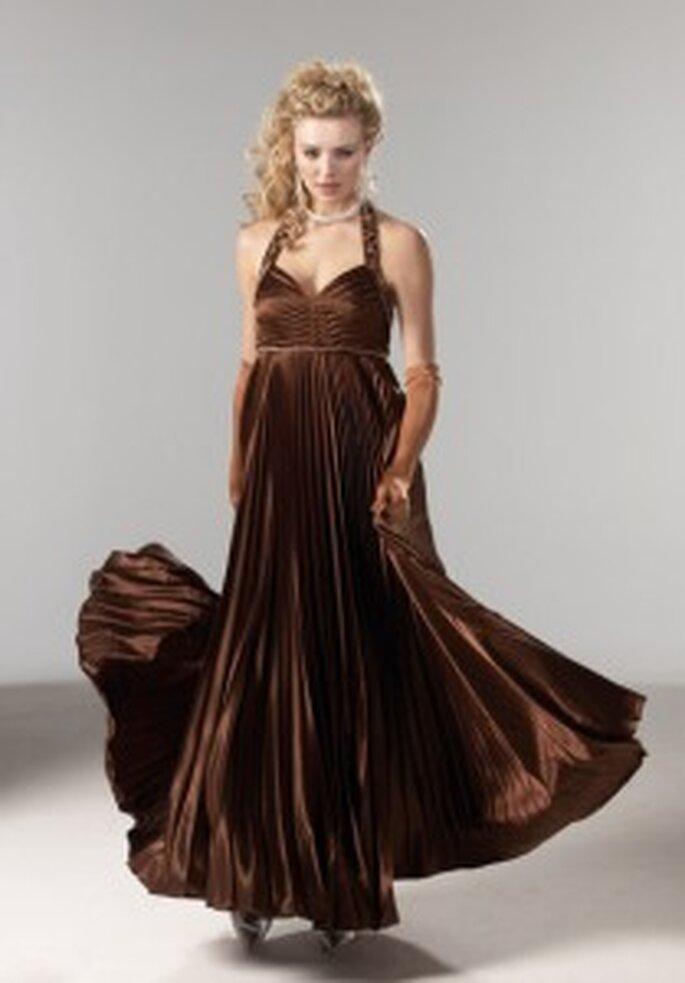 Tomy Mariage 2009 - Madeleine - Robe longue à décolleté en coeur avec bretelles, coupe empire