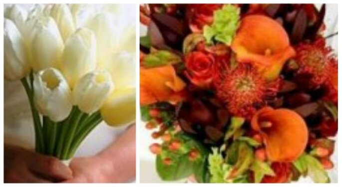 Puedes elegir flores de temporada para tu ramo de novia