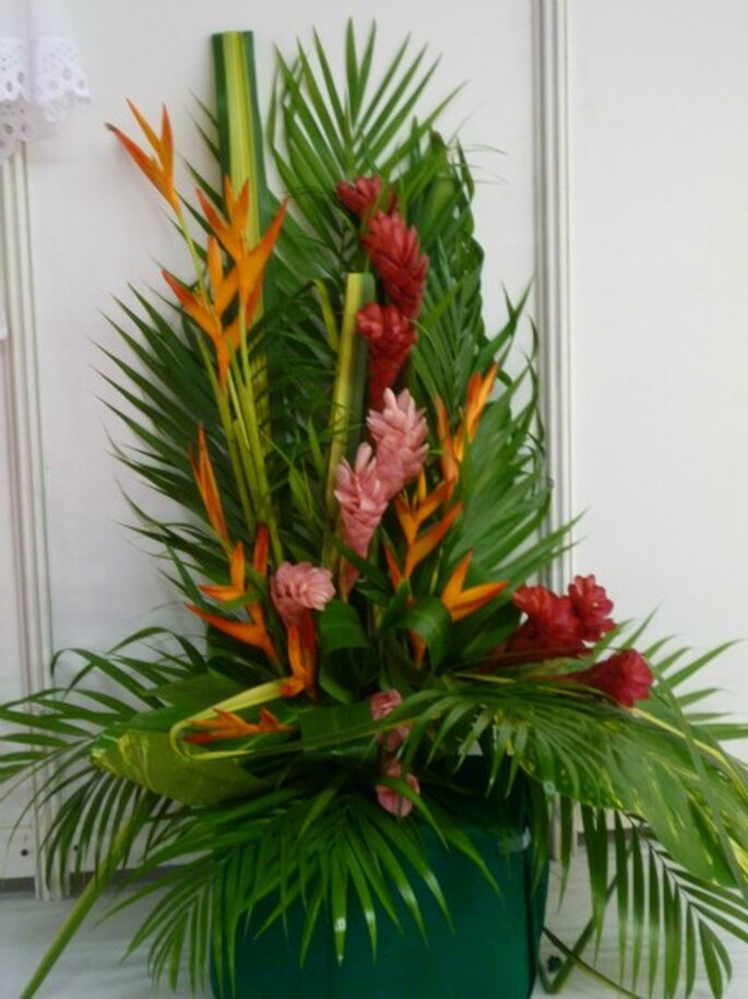 Donnez une touche exotique à votre décoration de mariage - Photo : Globe Traiteur