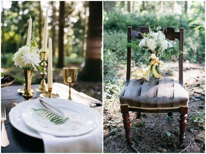 boda decorada con guirnaldas - Foto Kytography