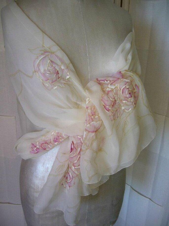 Robes de mariée Rose Poudré : sur mesure, customisées et peintes à la main