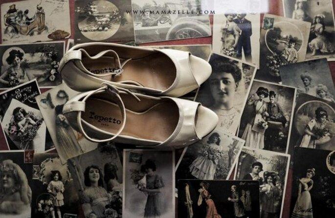 Estilo vintage para boda.Foto de Mélissa Lenoir ©