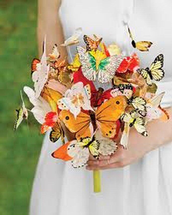 Un hermos ramo de mariposas: un toque original para bodas veraniegas