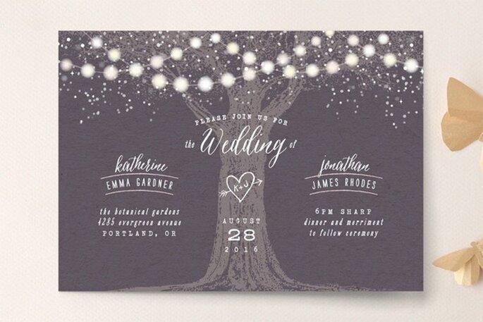 Ilustraciones y diseños súper originales para invitaciones de boda - Foto Minted