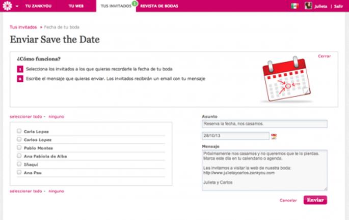 Manda un save the date a todos tus incitado para que aparten la fecha de tu boda - Foto Zankyou