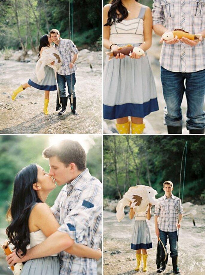 Ideas originales para tus fotos de compromiso - Fotos: Green Wedding Shoes